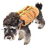 PAWZ Road Super Hero Halloween Verkleidung Kostüme Allerheiligen Weihnachten Pullover Pulli Weste Hoodie Wintermantel für Hund und Katze in Hot Dog Design M