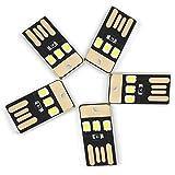 JIALUN- LED 0,5 Watt 3LED 5 V 2835SMD 22Lm USB Led-lampen Für Laptop PC Energienbank Weiß Lichter Mini Taschenlampe (5 STÜCKE)