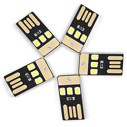 Sicherheit Lichter Indoor 0,5 Watt 3LED 5 V 2835SMD 22Lm USB Led-lampen Für Laptop PC Energienbank Weiß Lichter Mini Taschenlampe (5 STÜCKE) für Kinder, Schlafzimmer, Kinderzimmer, Flur, Treppen