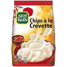 SUZI WAN Chips Apéritif à la Crevette 50 g - Pack de 12 unités