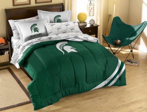 NCAA Full Größe Bettwäsche-Set mit Applikation Tröster, unisex, grün/weiß