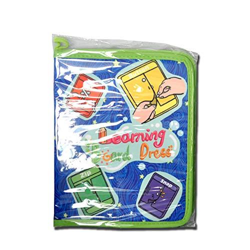 (DYMAS Kleinkind Puzzle Spielzeug Spielzeug englische 3D Baby Tuch Buch früh Unterricht Puzzle Lehre Kleinkind Geschenk)