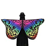 Rcool Beautiful Soft Fabric Butterfly Wings Wrap Shawl Fairy Ladies Girls Nymph Pixie Costume Dresses Capes Stoles Coat Accessory (Multicolor)