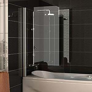 badewannenabtrennung echtglas trennwand ca 75 x 130 cm badewanne duschabtrennung aus. Black Bedroom Furniture Sets. Home Design Ideas
