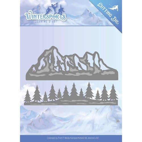 Stanzschablone - Jeanines Art - Wintersports - Alpen Bordüre