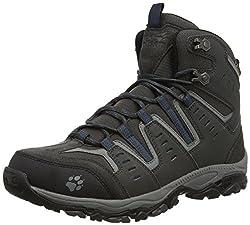 Jack Wolfskin Herren MTN STORM TEXAPORE MID M Trekking- & Wanderstiefel, Grau (moroccan blue 1800), 43 EU