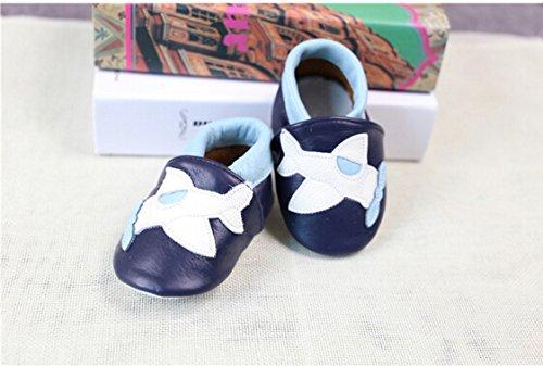 Walker Avião De Premium Sapatos Diferentes Sapatos Com Bebê Azul Macios Rastreamento Couro Motivos Sapatos OatwgRnqxx