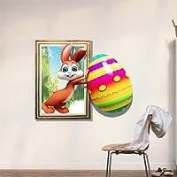 Bluelover 3D bambino bambini camera Cartoon bel coniglio uovo divertenti adesivi da parete decalcomanie rimovibile carta arte regalo fai da TE decorazione