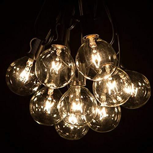 URIJK Lichterkette G40 Außen Lichter mit 25 Glühbirnen-Innen/Außen Hängendes Licht String...