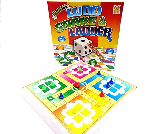 Techno Magnetic Ludo Snake and Ladder Board Game