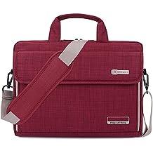 0f726997c6 Brinch Borsa per Laptop,Lussuosa Borsa a Tracolla Protettiva e Universale,  Unisex in Tessuto