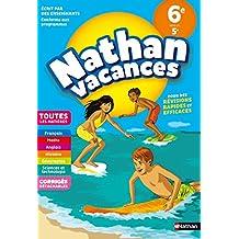 Cahier de Vacances 2018 de la 6ème vers la 5ème, toutes les matières - Nathan Vacances