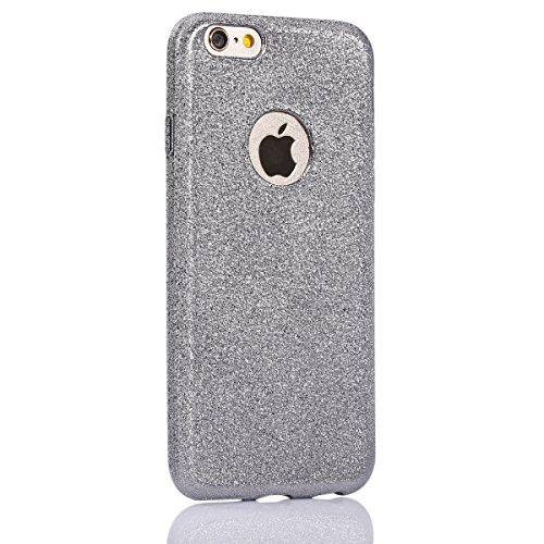 Custodia Cover Ultra Slim per iPhone 6 iPhone 6S 4.7 di TPU,Ukayfe Cristallo di lusso di Bling di scintillio lucido diamante scintilla iPhone 6 iPhone 6S 4.7 Copertura Case Custodia protettivo Skin Ho Grigio