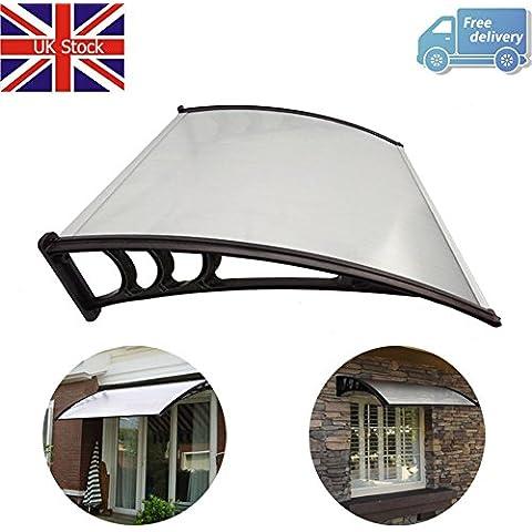 Yontree tettoia Tenda veranda anteriore e posteriore esterno SOLE pioggia paralume, 120cm, colore: nero