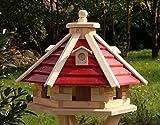 holzdekoladen Vogelhaus Vogelhäuser aus Holz Typ 21 (ohne Ständer, Rot)