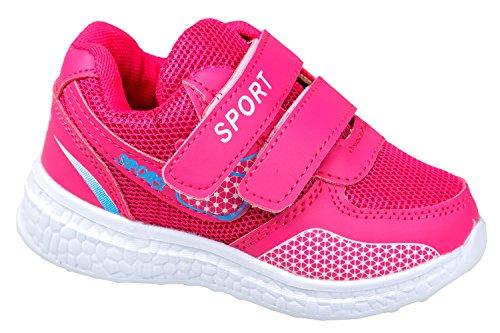 gibra , Chaussures spécial sport en salle pour fille rose bonbon