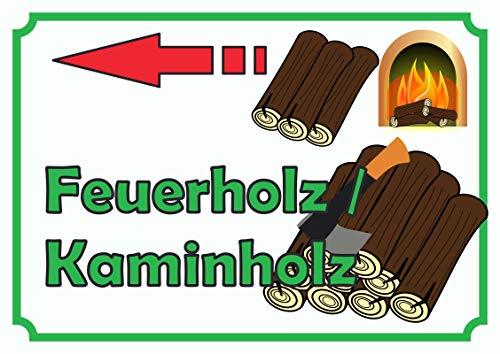 ild Schild Feuerholz Links A0 (841x1189mm) ()
