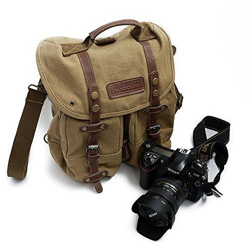 Professionelle SLR Kamerataschen Umhängetasche Digitalkamera Rucksack Canon Nikon SLR-Kamera kameratasche kamera umhängetasche tasche dslr dsl sony Schulter tasche diagonal Umhängetasche (braun)