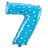 Cotigo-Globo número Blanco Estrella cumpleaños de 70cm azul 7