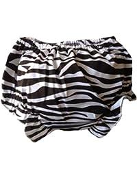 Jupe culotte bébé bloomer,cache couche,Modèle zébre rose de 0 à 3 ans 0/1 an,1/2 ans,2/3 ans