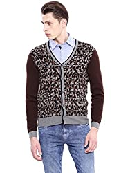 Arrow Sports Mens Wool Sweater (AKOS8047_Off White_Small)