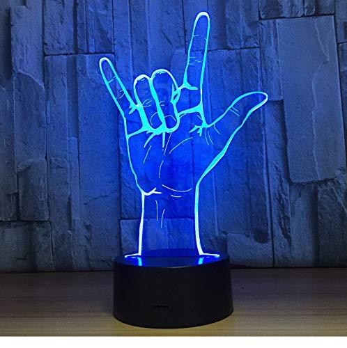 er 3D Illusion Nachtlicht, Touch Button Tisch Schreibtischlampe Mit 7 Farben Licht Für Weihnachten Halloween Geburtstagsgeschenk Gift Ich Liebe Dich) ()