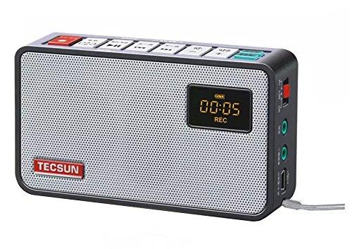 dsp hifi Tecsun ICR-100(16G) 4-in-1 Pocket FM Radio with ETM Tuning, Digital Recorder, MP3 Player & Portable Hi-Fi Speaker with DSP Bass for Desktop & Laptop Computers, (Black)