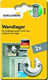 Schellenberg 83900 Wandlager Mini, 2 Stück