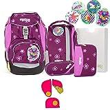 Ergobag Pack - Schulrucksack Set 7 tlg. - Bärlissima inkl. Sicherheitsset