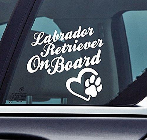 n Board - Hunde, Welpen, Pfoten, hochwertig, selbstklebendes Vinyl, Fenster, Auto-Aufkleber, Wandern, Natur, Wald, Berg, Seen ()