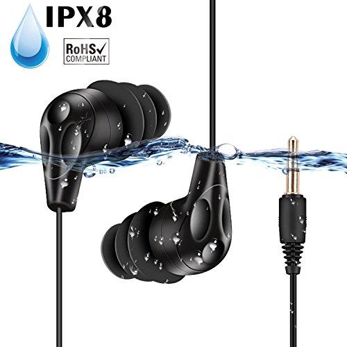 AGPTEK E11-Auriculares Sumergibles Acuaticos Impermeables IPX8 para