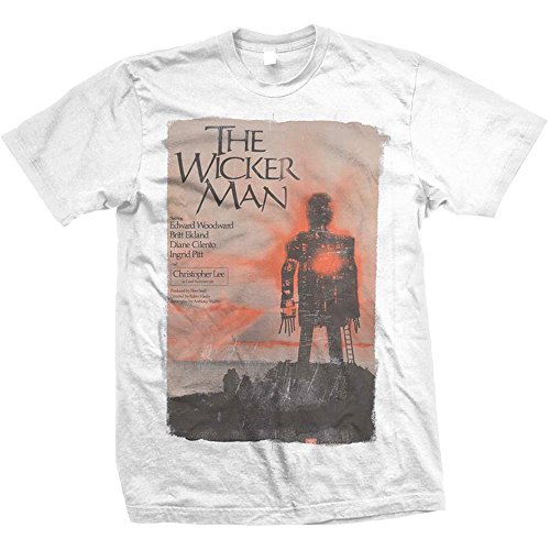 Rockoff Trade Herren T-Shirt The Wicker Man Weiß (White) M - Wicker Man-shirt