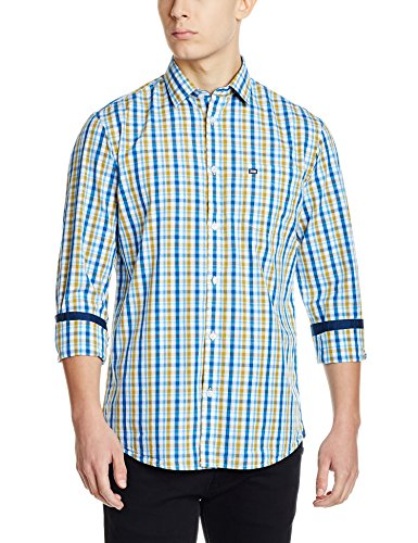 Arrow Sports Men's Casual Shirt (8907538662149_ASTS1596_44FS_Me. Blue)