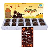 BOGATCHI ThanksGiving Gifts, Thanks Giving Chocolates, Premium Chocolate Candy Box, 12 pieces, FREE Thanks Giving Greeting Cards