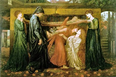 Dante's Dream at the Time of the Death of Beatrice 1871 - Dante Gabriel Rossetti - Aluminium Wall Art 15 x 20cms