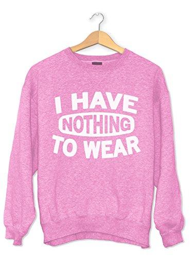 Igtees - Sweat-shirt - Femme Baby Pink (White Print)