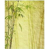 magnetisch haftende Folie 60 x 60 cm Motiv: Bambus und Pinke Orchidee auf schwarzem Glas mit Regentropfen Wallario Magnet f/ür K/ühlschrank//Geschirrsp/üler