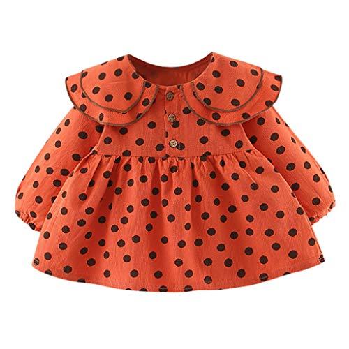 Baby Kostüm Haar Doll - Isshop Mädchen Rock .Necklace Ruffle Doll Für Kinder Printed Dress Polka Dot Prinzessin Kleid Baumwolle Baby Mädchen Kleid Party Kinder Rock Party Kostüm (3M-24M)
