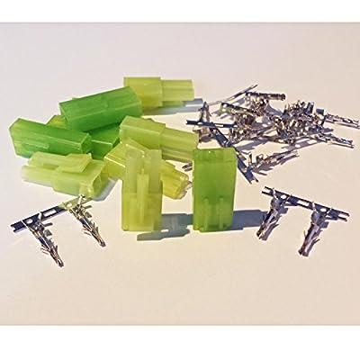 5 Paar (10 Stück) Mini Tamiya kompatible Stecker und Buchse Crimp Set von MR-Onlinehandel® von MR-Onlinehandel
