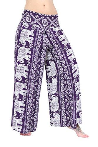 ThaiUK Damen Hose Mehrfarbig mehrfarbig One size Elephant Dark Purple
