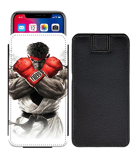 I-Sonite Street Fighter WIZYAKUZA RYU Boxing Speziell gedruckten Lasche Tasche Phone Case Cover für Motorola Moto E4 (USA) [S] - SF03 (Bag Boxing Usa)
