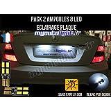Pack ampoules led éclairage plaque pour Mercedes Classe C W204