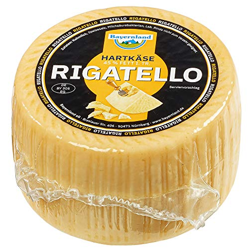 Rigatello am Stück 1,4kg Italienischer Hartkäse ganzer Laib mildes Aroma fein würziger Geschmack mind. 3 Monate gereift
