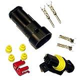 KFZ Ersatz Stecker – AMP Tyco Superseal 1.5 Kit 2-pin (SET) 282080-1, 282104-1