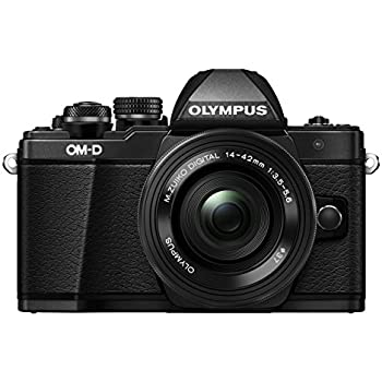 "Olympus E-M10 Mark-II - Cámara EVIL de 16.1 Mp (pantalla 3"", estabilizador óptico, vídeo Full HD, WiFi) - Kit cámara con objetivo 14-42mm EZ Zoom, negro"