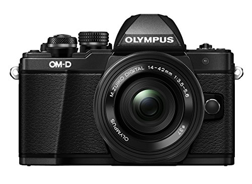 Olympus E-M10 Mark-II - Cámara Evil de 16.1 MP (Pantalla 3', estabilizador óptico, vídeo Full HD, WiFi) Negro - Kit cámara con Objetivo 14-42mm EZ Zoom