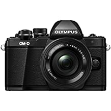 Olympus E-M10 Mark II Kit con Obiettivo M. Zuiko Digital ED 14‑42mm 1:3.5‑5.6 EZ Pancake, Nero