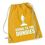 HippoWarehouse Going to the dundies Drawstring Cotton School Gym Kid Bag Sack 37cm x 46cm, 12 litres