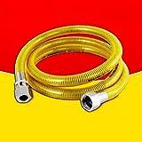 Wddwarmhome 304 Edelstahl Gasrohr Erdgasrohr Gasherd Wasser Heizung Metall Wellschlauch 2 mt (Farbe : Screw mouth+screw mouth)