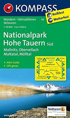 Nationalpark Hohe Tauern Süd, Mallnitz, Maltatal, Mölltal. Wandern / Rad / Skitouren. GPS-genau. 1:50.000